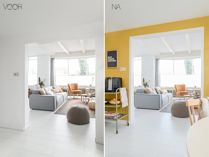Muurverf woonkamer taupe - Muur taupe kleur ...