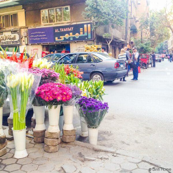 Flowers on the streets of Zamalek Cairo ©BintiHome