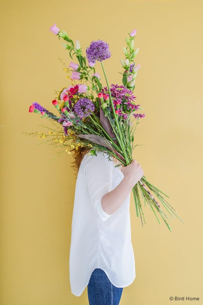 Bloomon bloemen fotoshoot kleurrijk ©BintiHome