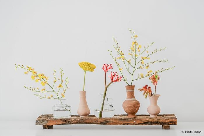Bloomon bloemen in kleine vaasjes ©BintiHome