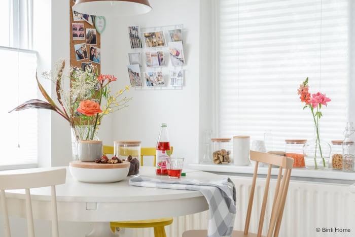 Ronde tafel styling keuken Hema ©BintiHome