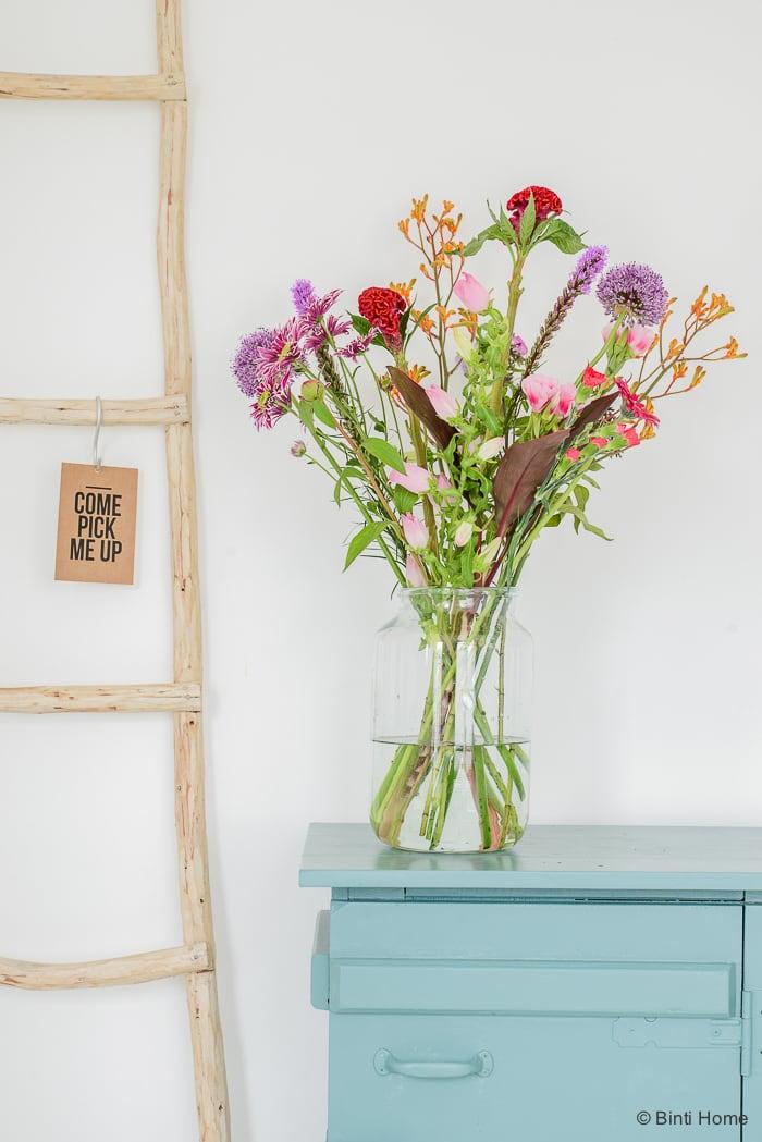 Bloomon bloemen in transparante vaas boeket ©BintiHome