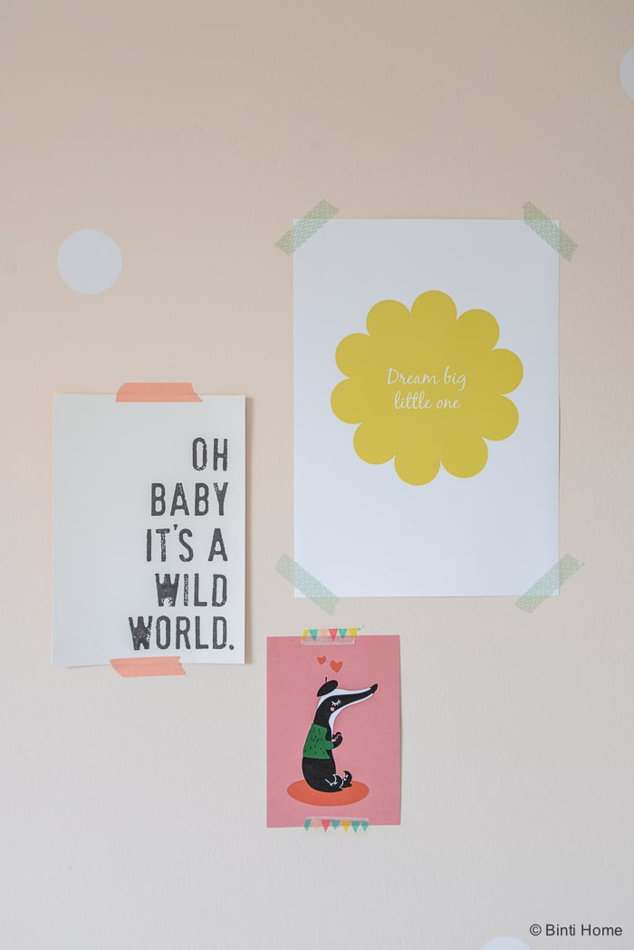 Babykamer teksten prints zachte pasteltinten Binti Home Blog ©BintiHome