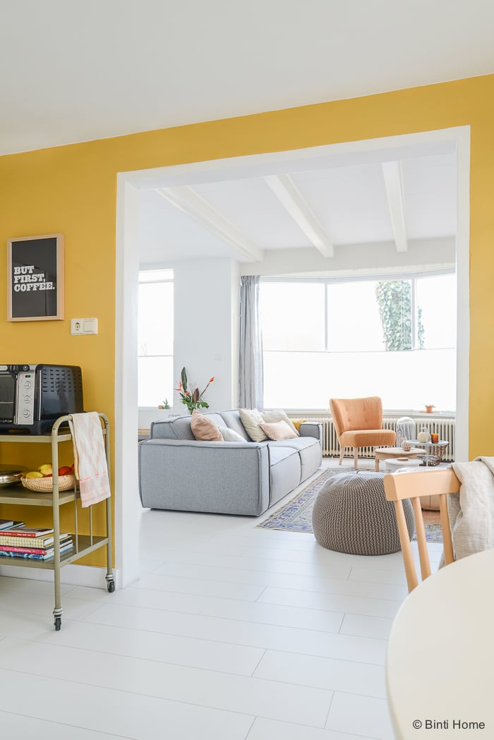 Interieurontwerp restyling keuken interieurstylist Flexa verf © BintiHome studio