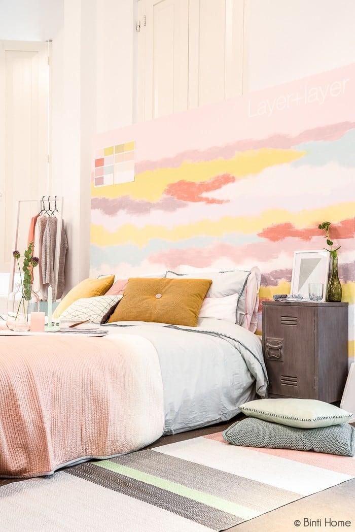 Ontwerp styling coordinatie Flexa Akzonobel Perspresentatie Colour Futures 2014 slaapkamer © Interieurstudio Binti Home
