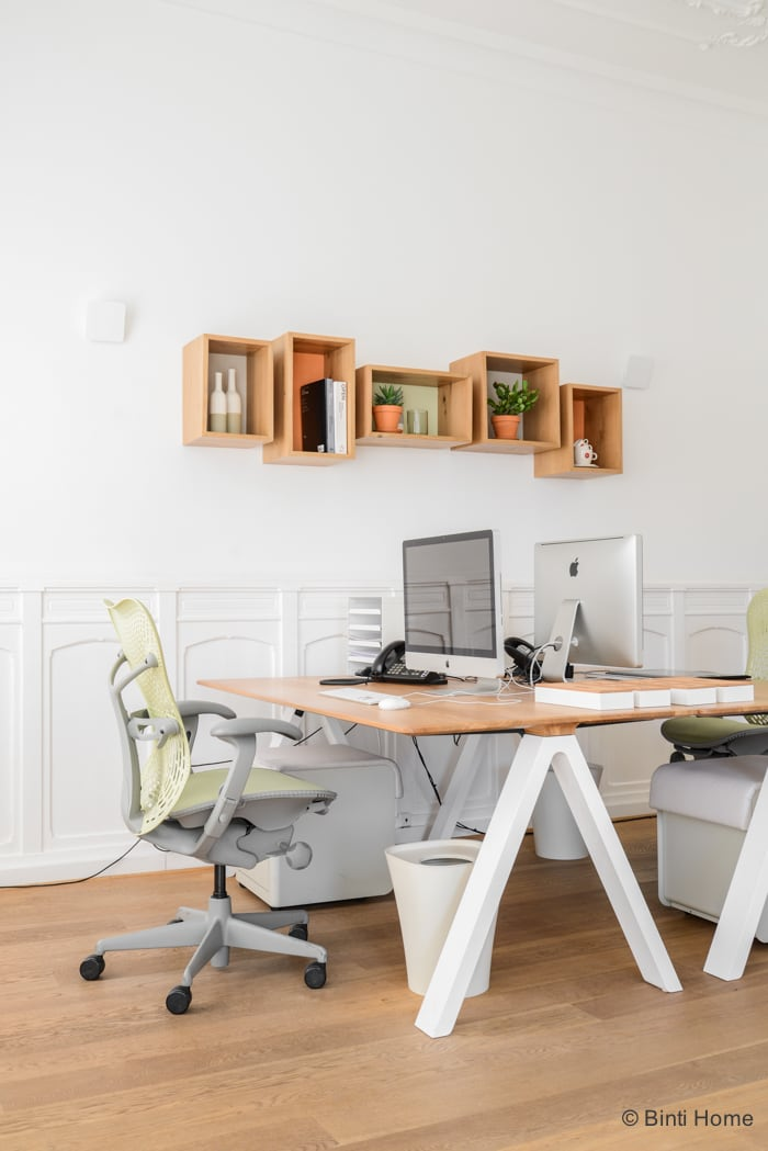 Interieurontwerp kantoorinrichting Inzicht Communicatie werkplek Amsterdam ©BintiHome studio