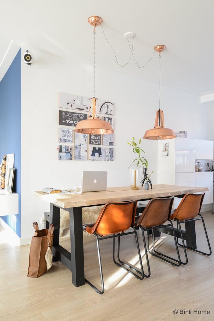 Interieurinspiratie eetkamer interieurontwerp nieuwbouwwoning Purmerend  ©Interieurstudio Binti Home