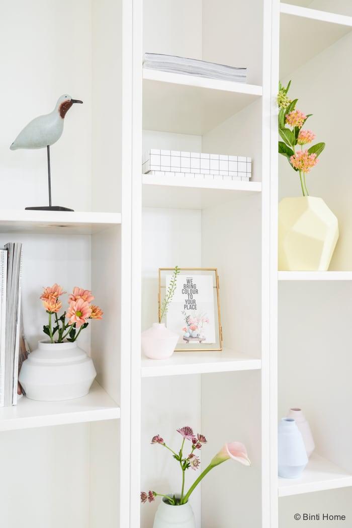 Bloemen styling pastel kleuren romantisch ©BintiHome