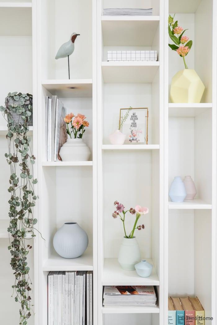 Bloemen styling romantisch pastel kleurenpalet ©BintiHome