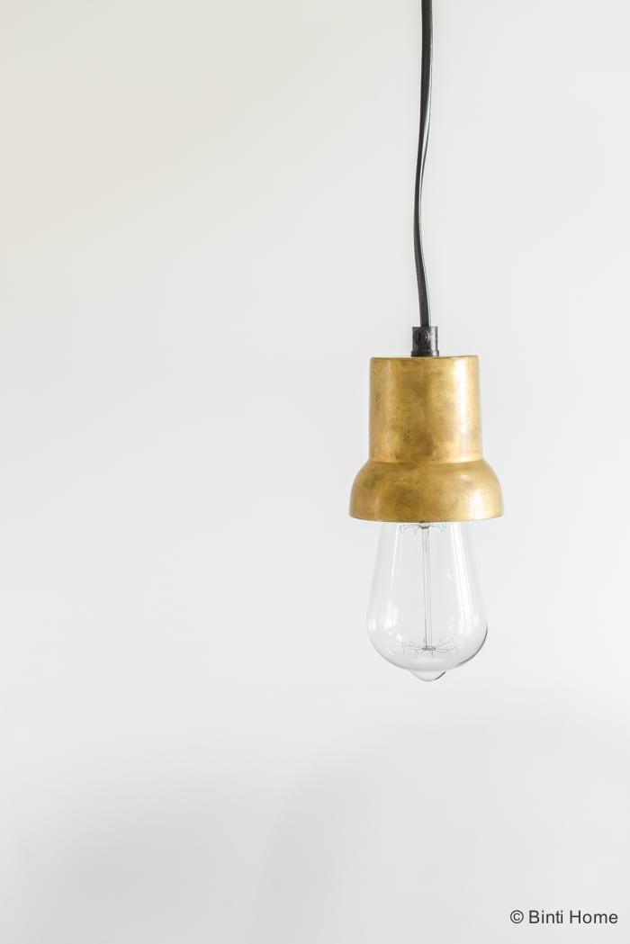 Kantoorinspiratie lamp brass zelfstandig ondernemen ©Binti Home-6