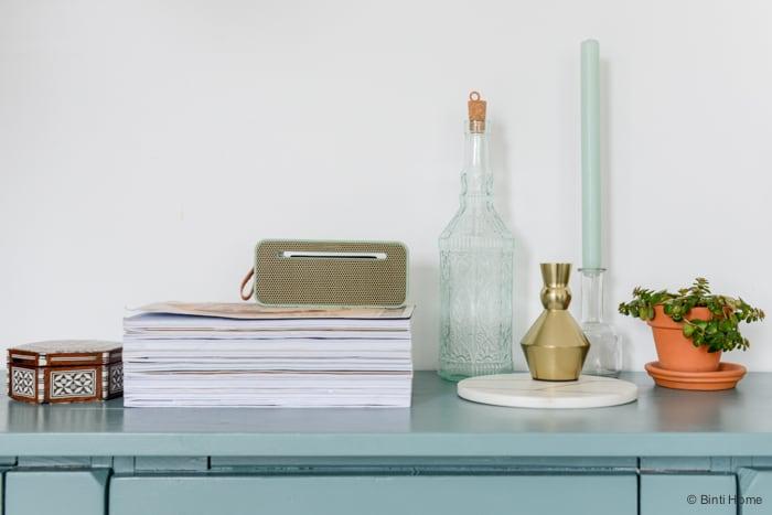Interieurstyling en fotografie styling turquoise kast woonaccessoires ©BintiHome