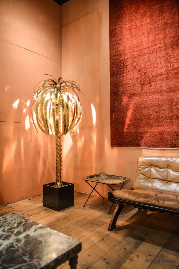Salon Residence Singer Laren 2015 palmboom lamp Ontwerper Thijs Murré © Binti Home Blog