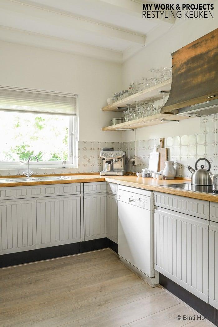 Budget restyling voor de keuken interieurontwerp advies woning Reeuwijk ©BintiHome