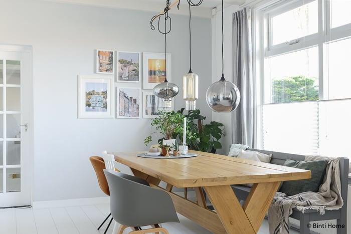 Interieurinspiratie binnenkijken eetkamer urbanjungle ©BintiHomestudio