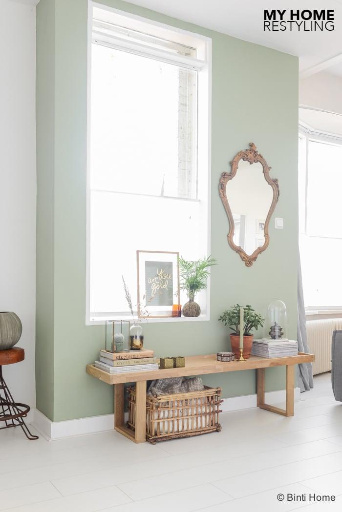 Restyling in mijn woonkamer met de trendkleur groen for Kleur mijn interieur