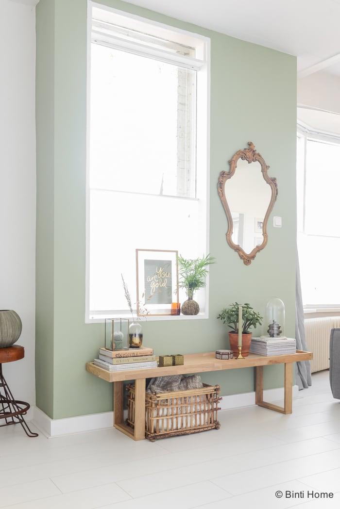 Restyling van een wandje in mijn woonkamer met de trendkleur groen ...