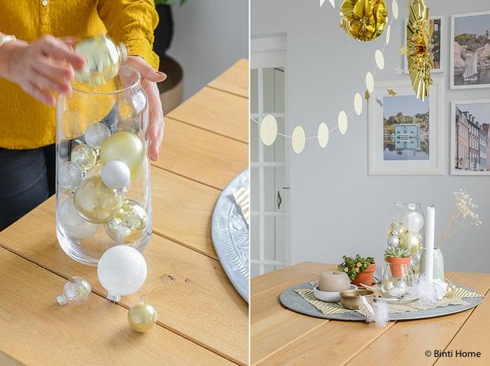 Kerstballen decoreren in een vaas ©BintiHome-3