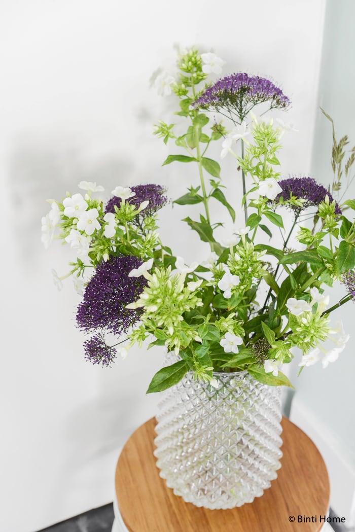 Bloemen Hal styling wooninspiratie mintgroen en aubergine voor Hema Blog ©BintiHome-8