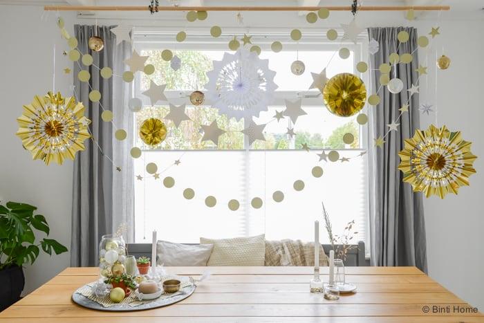 Kerstmobiel styling Interieurtips voor kersttrend goud 2015 ©BintiHome