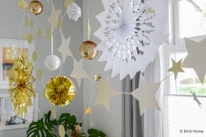 Tafelstyling kersttrend goud 2015 ©BintiHome