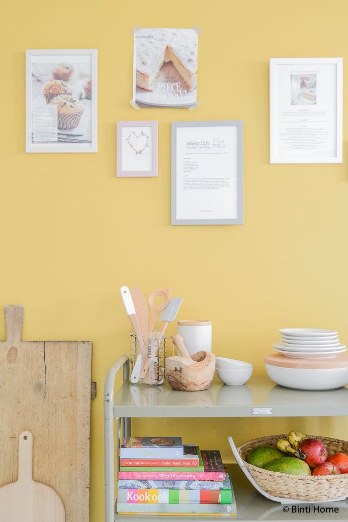 Hema Keuken Accessoires : Stylingtip voor de keuken Een receptenwand op een