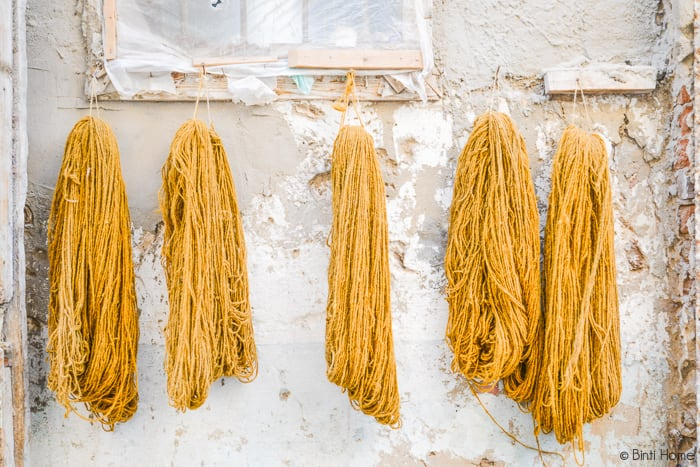 souraya hassan binti home kelims wool ocher in egypte #thisisegypt ©BintiHome