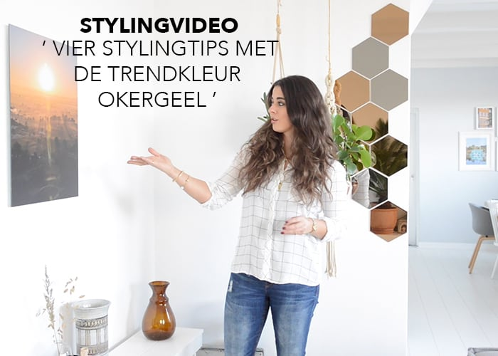 Styling video : Hoe pas je de trendkleur 2016 okergeel toe in jouw interieur?