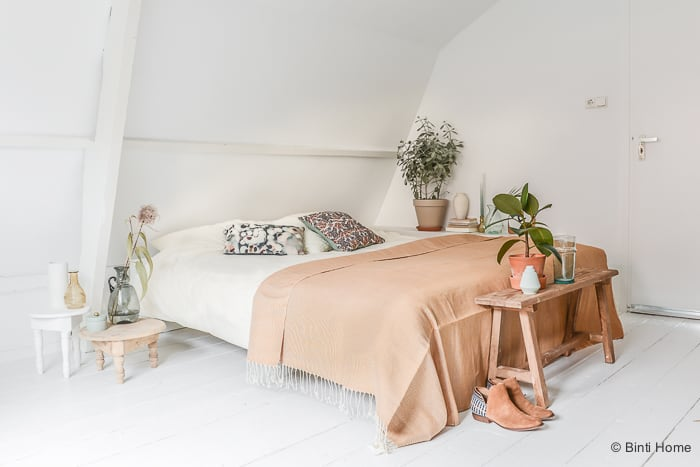 Slaapkamerstijl Bohemian eclectic interieur inspiratie Swiss Sense ©BintiHome