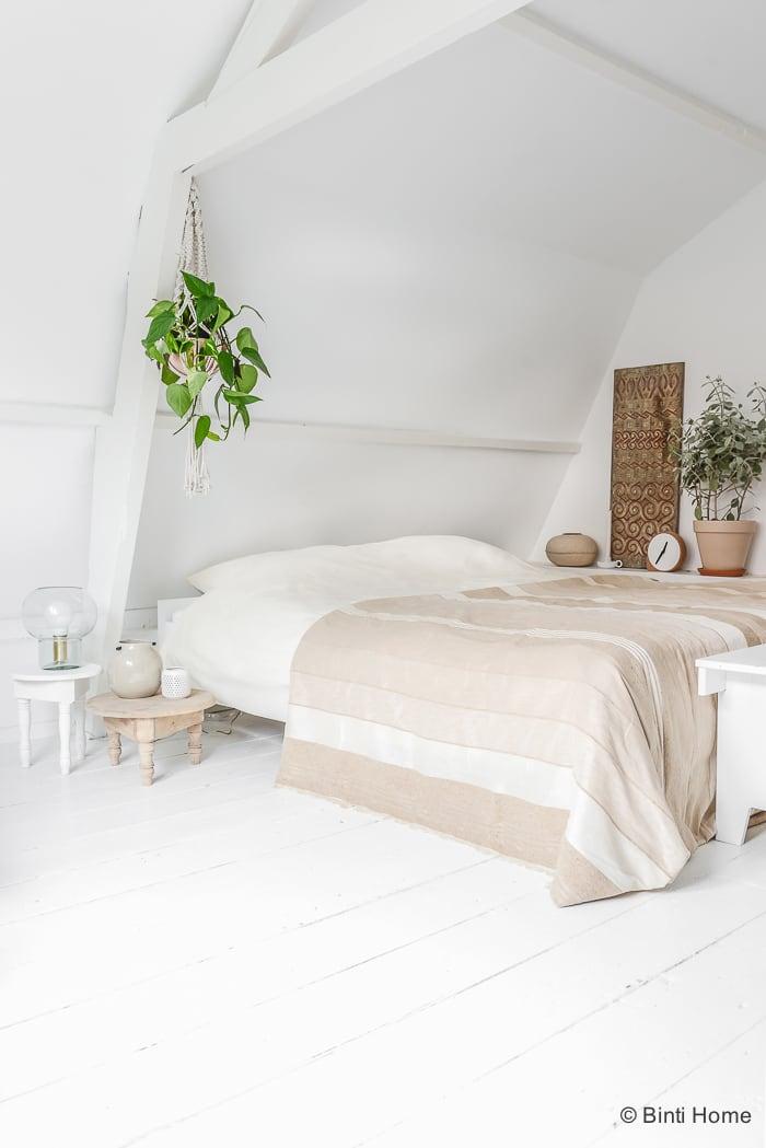 Welke kleuren in de slaapkamer naturel Marokkaanse sfeer ©BintiHome
