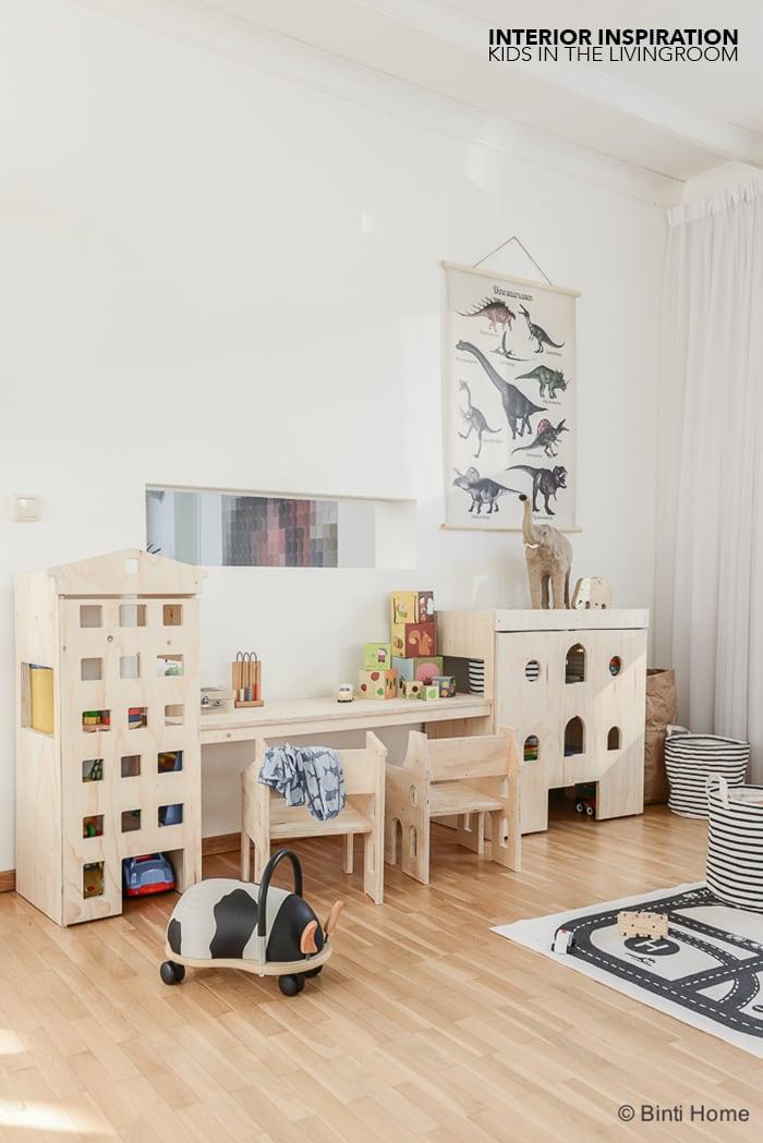 Wooninspiratie Kinderhoek inrichten in de woonkamer door Dertigzes ©BintiHome