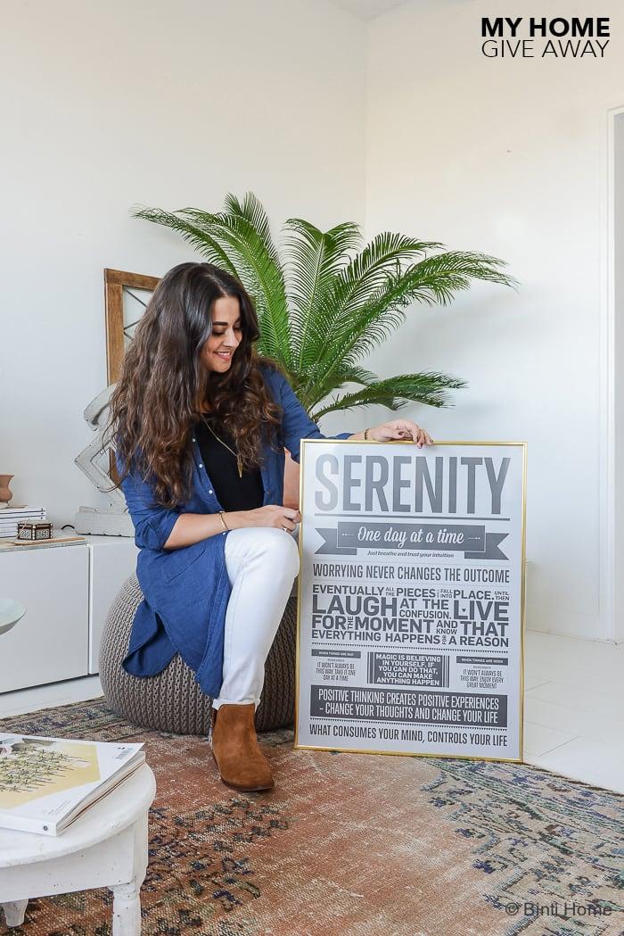 Give away I love my type poster and frame Binti Home Blog ©BintiHome