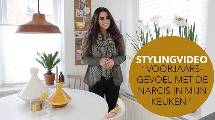 VIDEO : Stylingtip met narcissen in mijn keuken