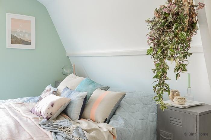 Beddinghouse slaapkamer styling pastelkleuren KAAT Amsterdam ©BintiHome