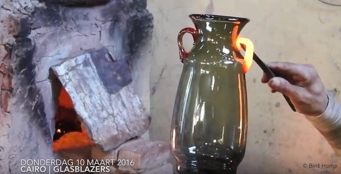 Olla vaas mouthblown glas Cairo ©BintiHome-2
