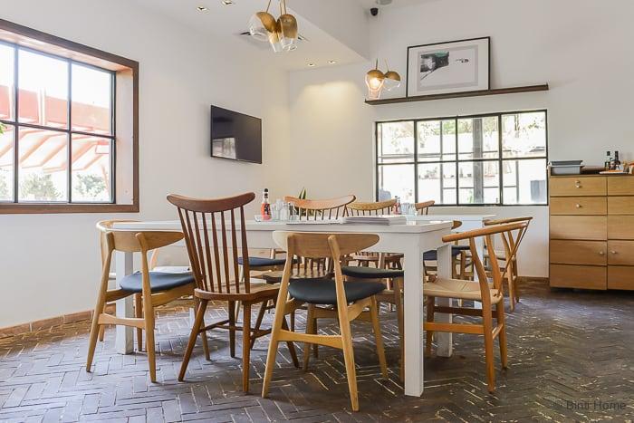 Interior inspiration wooden chairs restaurant Ampersand Zamalek Cairo ©BintiHome-2