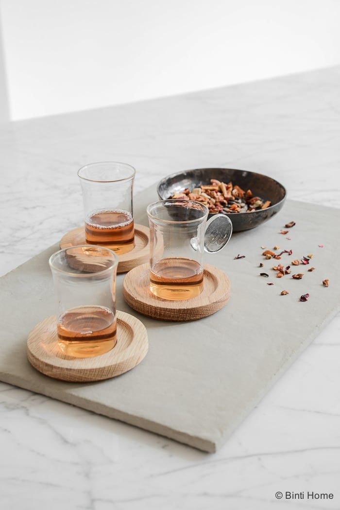 Concrete serving board for tea Ramadan 2016©BintiHome