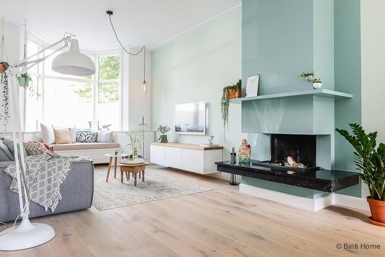 Openhaard In Woonkamer : Interieurontwerp woonkamer : jaren 30 huis inrichten in haarlem