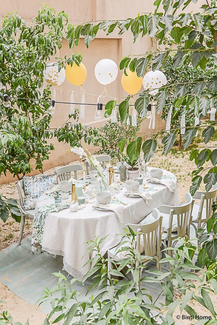 Tafel dekken voor een tuinfeest decoratie tips ©BintiHome