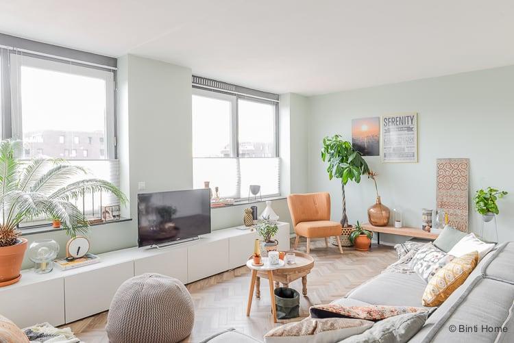 Kleur Muren Woonkamer : Welke kleur groen op de muur voor de woonkamer metamorfose?