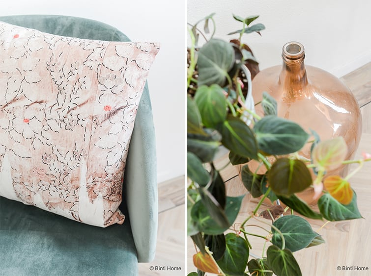 Kleurenpalet olijfgroen koper interieur kleur kiezen ©BintiHomekopie