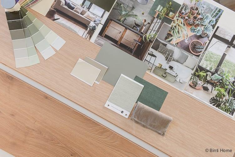 Vloer inspiratie moodboard en kleurtips Douwes Dekker laminaat vloer Royaal eiken naturel geborsteld geolied ©BintiHome