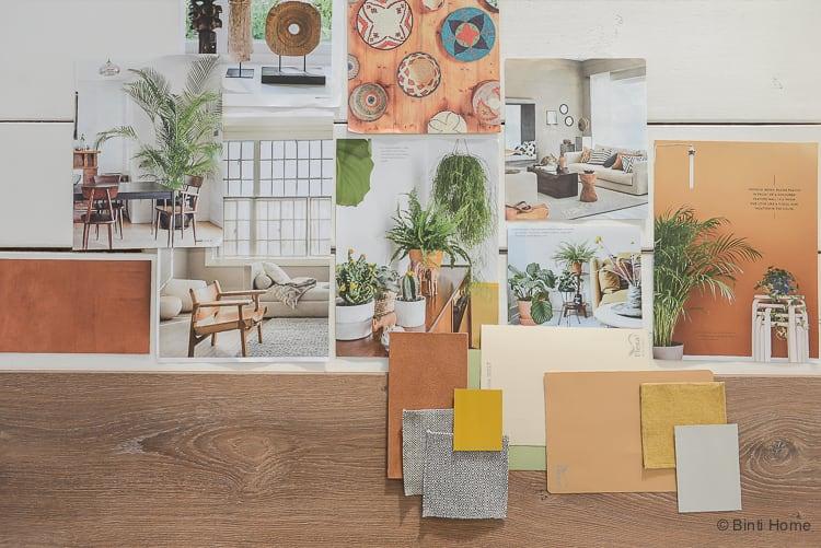 Vloer inspiratie moodboard en kleurtips Douwes Dekker laminaat vloer Gerookt rustiek eiken ©BintiHome