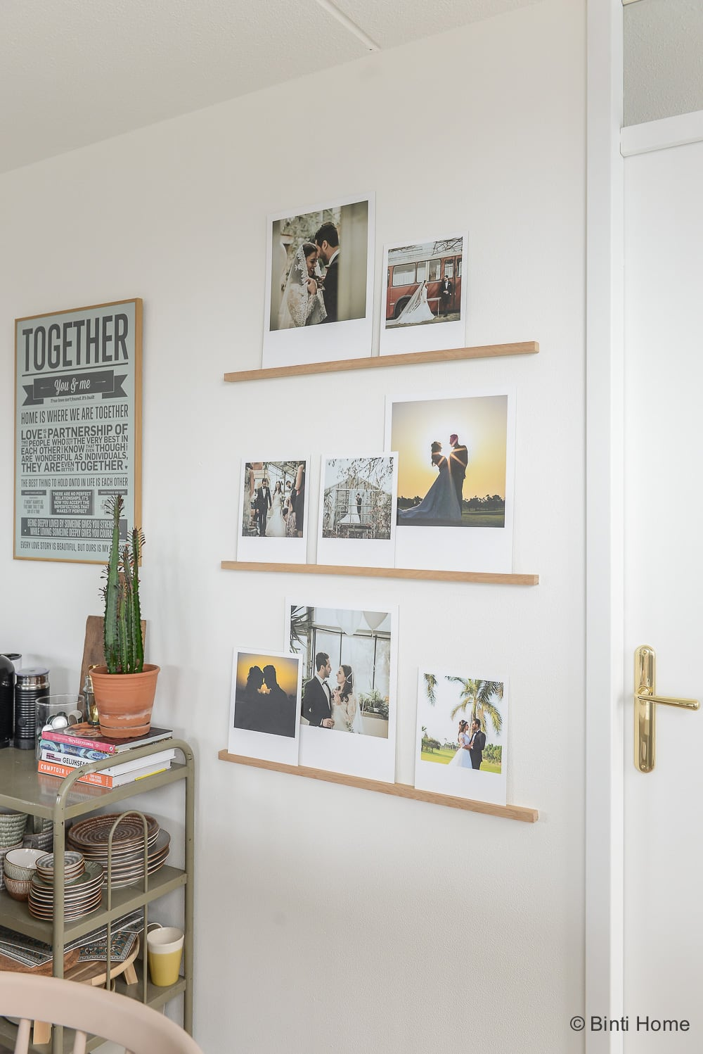 DIY Wedding photowall Binti Home ©BintiHome