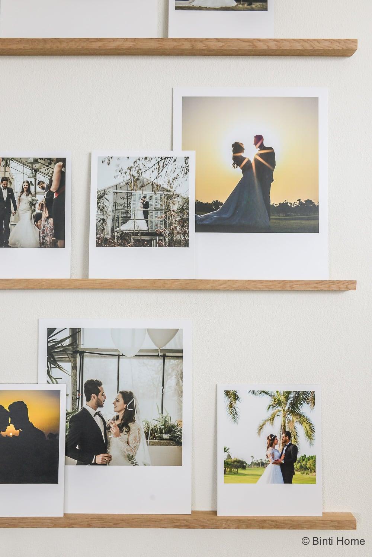 diy fotowand maken our wedding photo wall