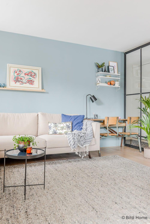 Woonkamer inrichten tips farrow and ball blauw interieurontwerp woning Amsterdam ©BintiHome-6