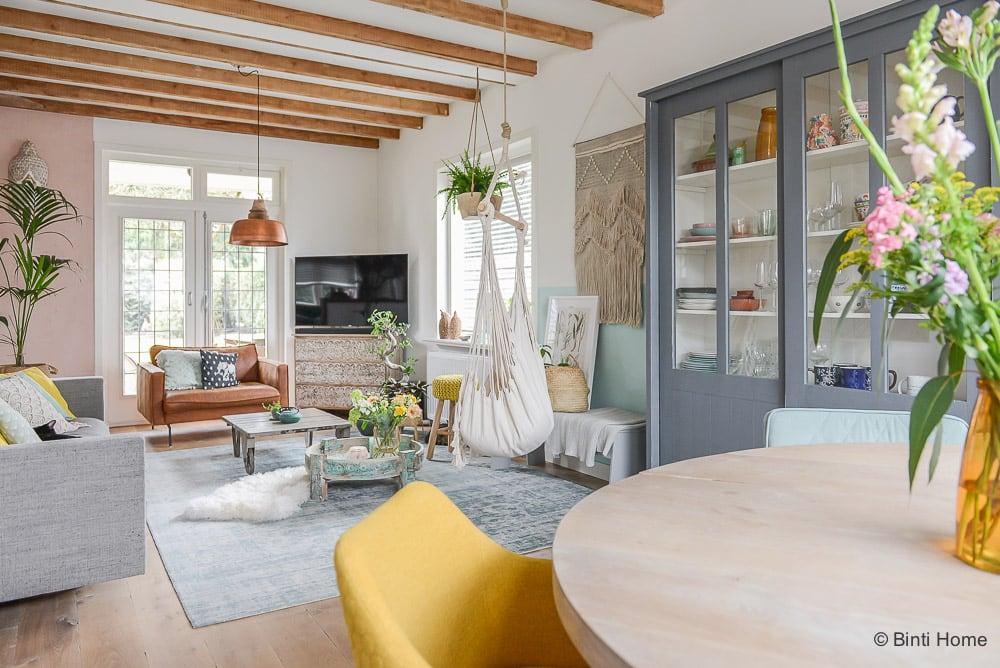 Jaren 30 huis inrichten verbouwen advies pastel kleuren ©BintiHome