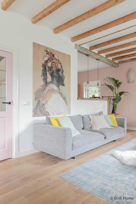 Jaren 30 huis inrichten verbouwen advies pastel kleuren ©BintiHome4