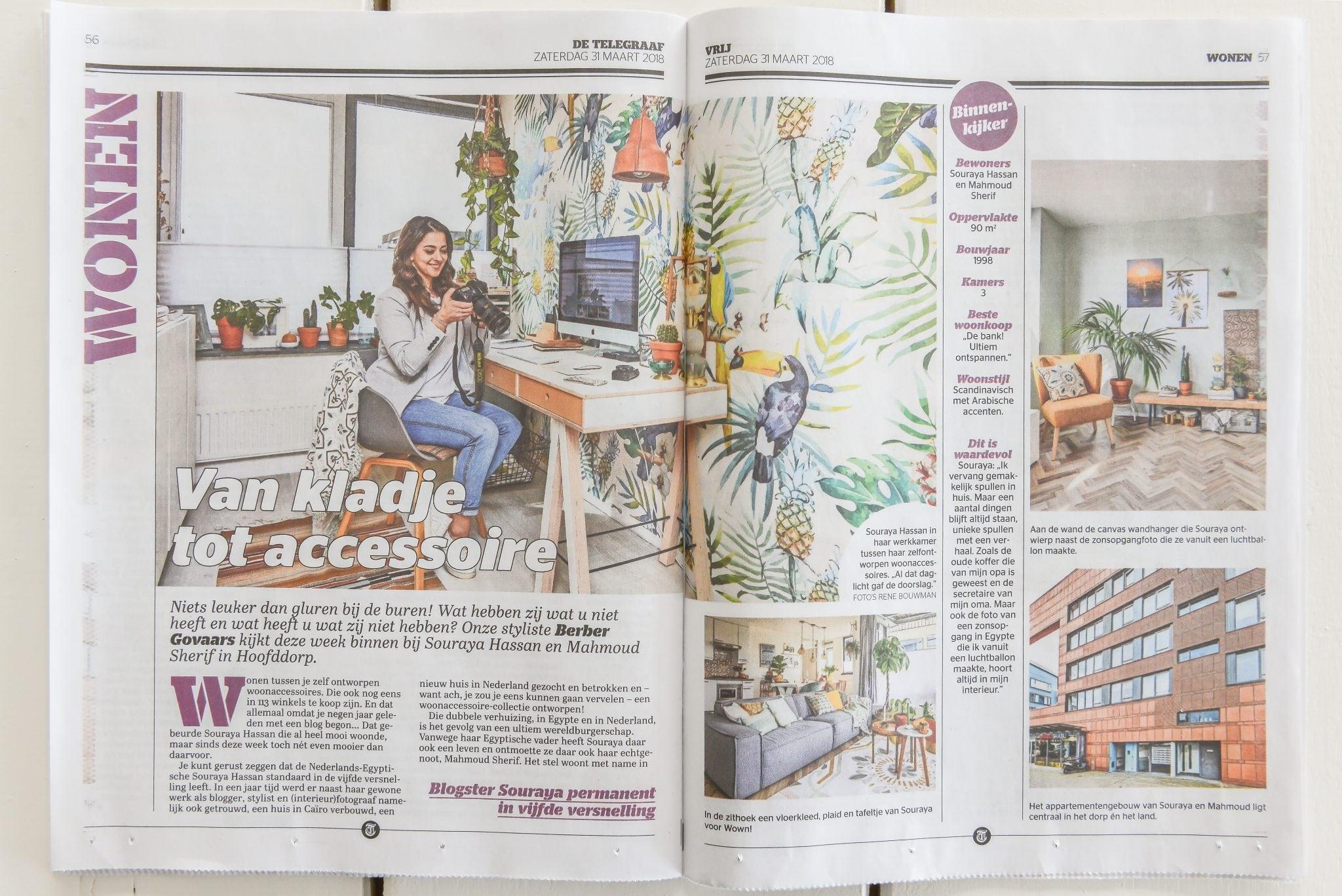 Binnenkijken inspiratie Telegraaf Vrij magazine Blogger stylist ©BintiHome