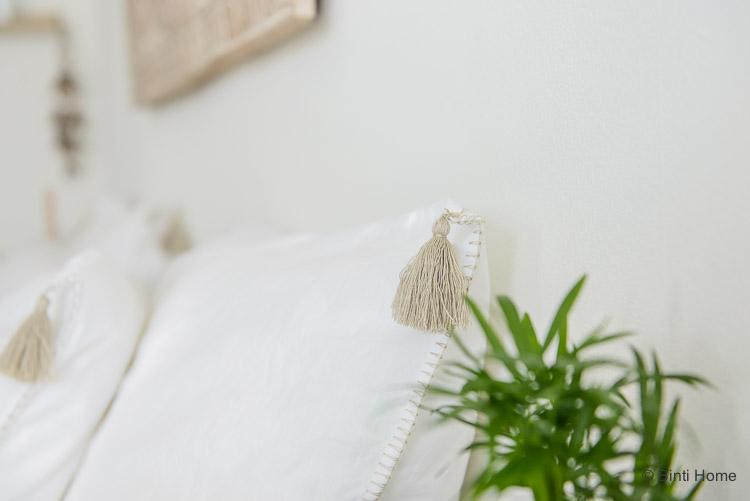 Dekbedovertrek met kwastjes slaapkamer ©BintiHome