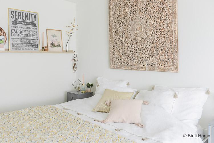 Linnen Dekbedovertrek met kwastjes Lisbon House in Style met kwastjes slaapkamer ©BintiHome